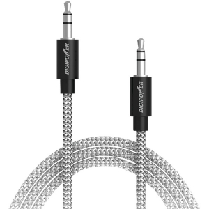 Tangle-Free Braided Auxiliary Cable, 3ft