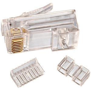 CAT-6 RJ45 Mod Plug Card of 25
