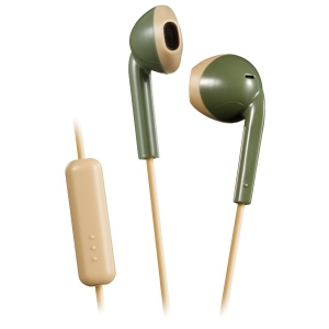 Retro In-Ear Wired Earbuds with Microphone (Green)