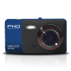 MNCD42 1080p Full HD Dash Camera with 4-Inch LCD Screen (Blue)