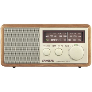 Wood Cabinet AM/FM Tabletop...