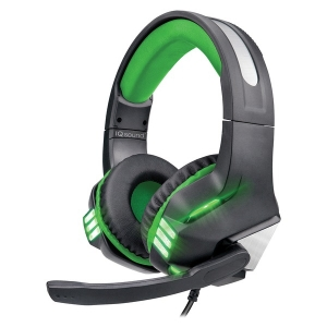 Pro-Wired Gaming Headset with Lights (Green)