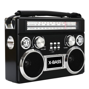 3 Band Radio with Bluetooth and Flashlight (Black)