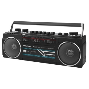 Bluetooth Retro Cassette Boombox with FM Radio (Black)