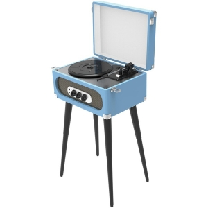 Bluetooth Retro Turntable with Stand & FM Radio (Blue)