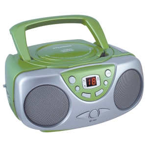 Portable CD Boom Box with AM/FM Radio (Green)