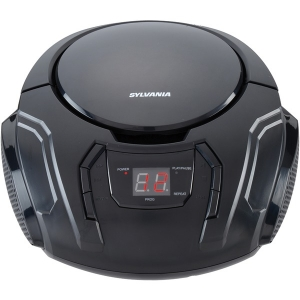 Portable CD Player with AM/FM Radio (Black)