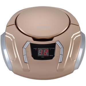 Portable CD Player with AM/FM Radio (Champagne)