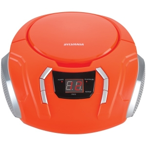 Portable CD Player with AM/FM Radio (Orange)