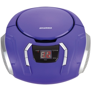 Portable CD Player with AM/FM Radio (Purple)