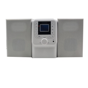 Bluetooth Micro System with FM Radio and CD Player (White)