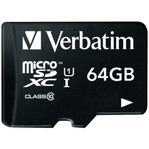64GB Class 10 microSDXC™ Card with Adapter