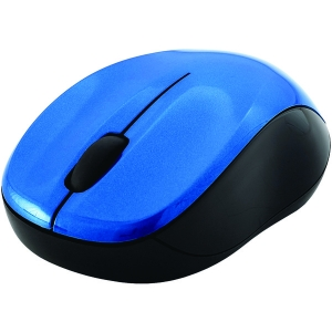 Silent Wireless Blue-LED Mouse (Blue & Black)